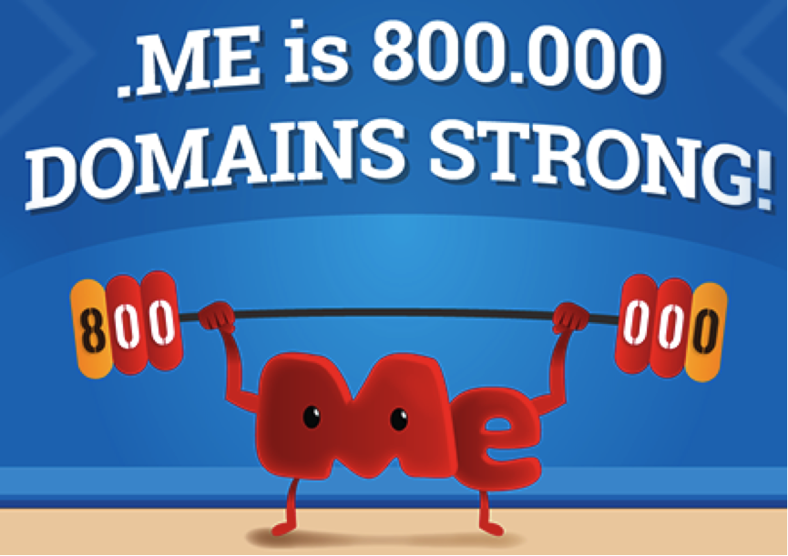 .ME is 800 000 domains strong