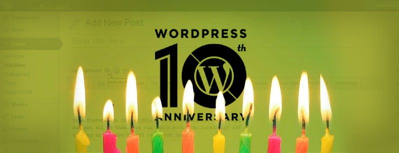Happy 10th birthday, WordPress! Love, .Me