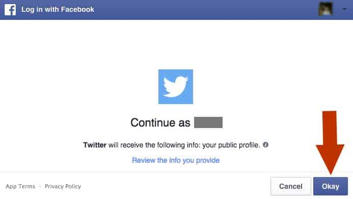 connect Twitter with Facebook step 4