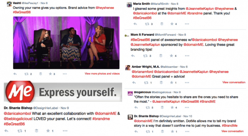 Domain .Me hosted a panel discussion at Blogalicious. There are reactions from the attendees.