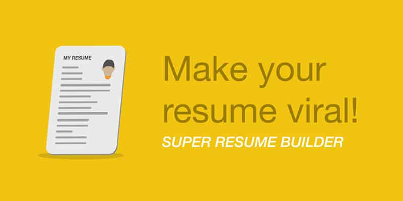 Make your resume on your mobile phone with Super Resume Builder