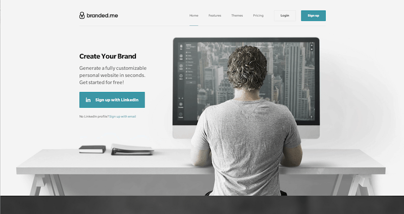 Create your own personal website quickly and easily with branded.me