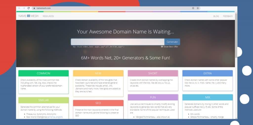 namemesh domain name generator