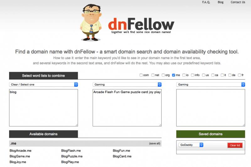 blog domain name generator