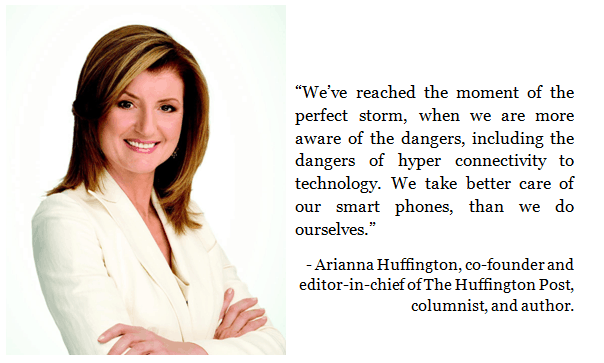 Arianna Huffington is a passionate digital detox advocate