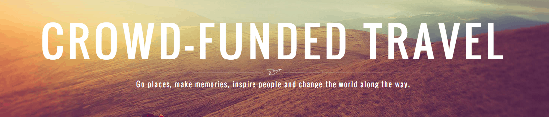 Crowdfund your travels