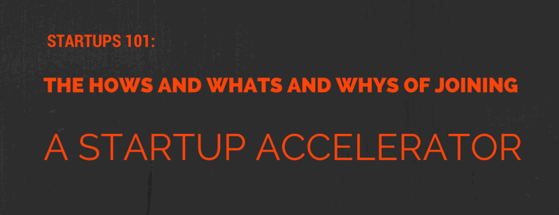 Why join an accelerator?
