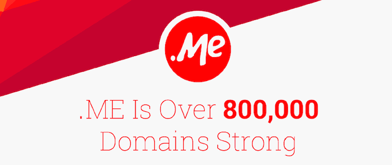 The .ME Domain Hits 800,000 Registrations