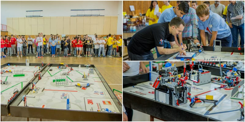 Their main task is to program an autonomous robot and win points in a thematic game by making the robot complete designated tasks.