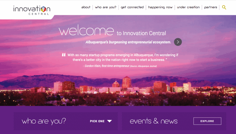 Innovation Central is an Albuquerque entrepreneurial community that aims to connect people working on important projects in the area.