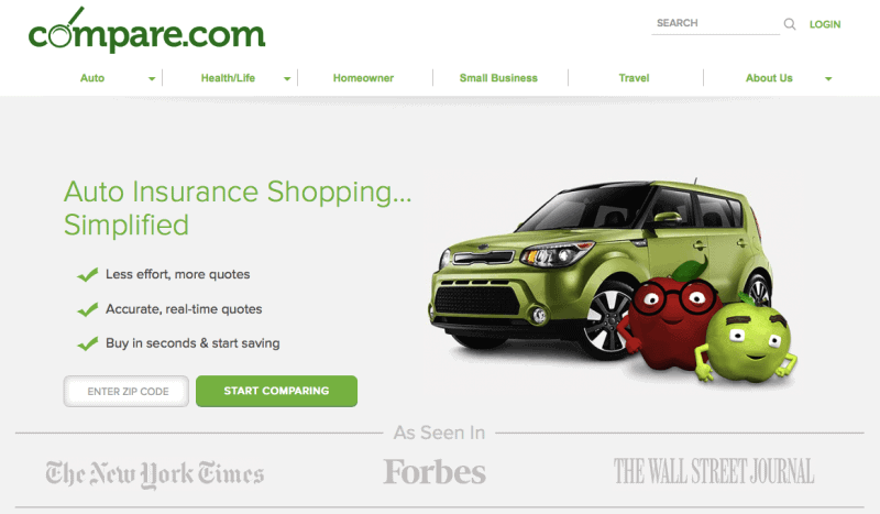 Compare.com chose a name it could build its online brand on.