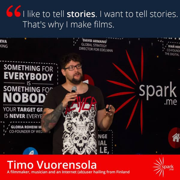 Timo was a speaker at Spark.Me!