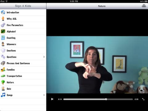 You can learn sign language through songs too.
