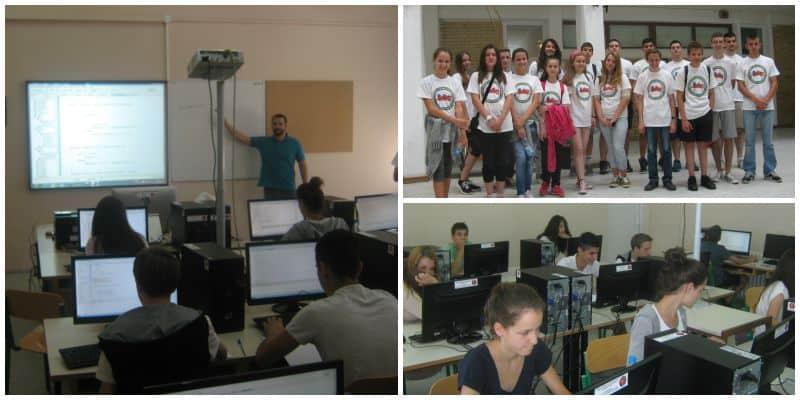 Summer School of Programming - working environment and program tutors.