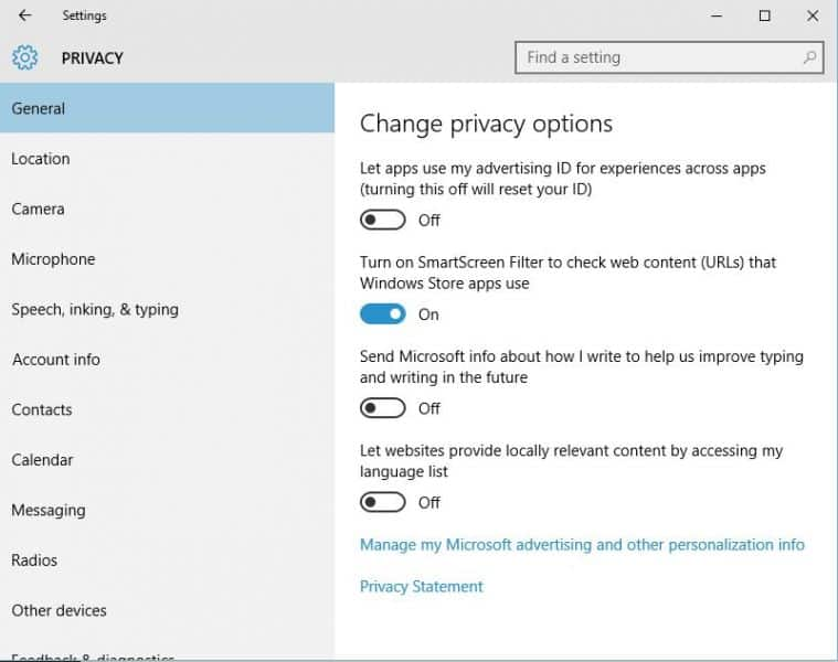 With great power comes great responsibility - there are 13 screens of privacy options in Windows 10