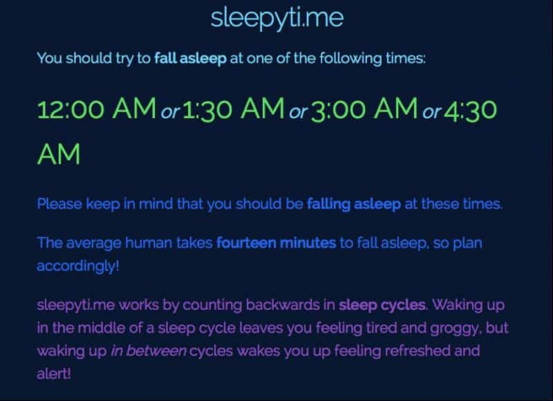 Go To Sleep And Wake Up At The Right Time With Sleepytime -1718