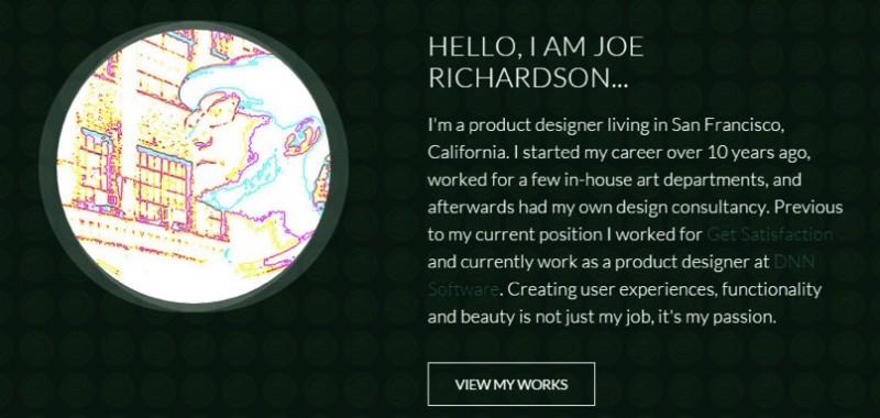 Joe Richardson's .ME portfolio