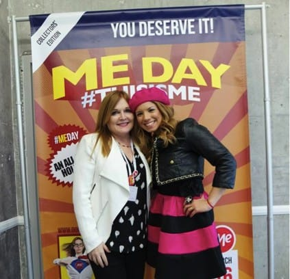 Gaby (right) pictured with Everywhere Agency CEO, Danica Kombol, in the Domain.ME #WeAllGrow suite