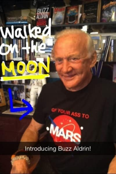 GE - Buzz Aldrin Snapchat campaign