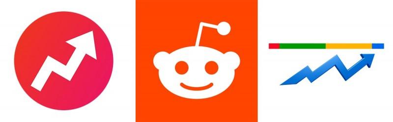Buzzfeed, reddit, google trends