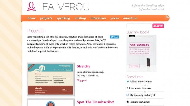 Lea Verou personal website