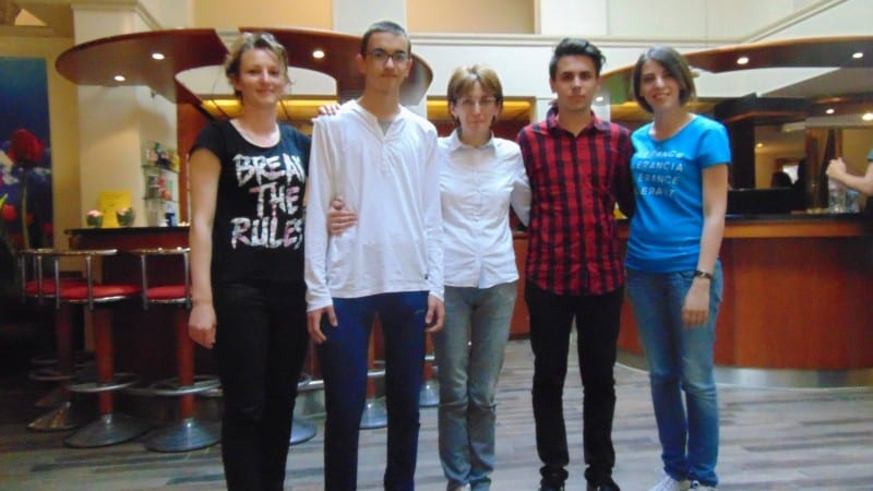 Montenegrin team at the 25th International Philosophy Olympiad