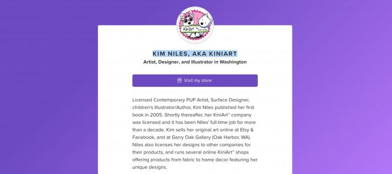 KIM NILES, AKA KINIART about.me