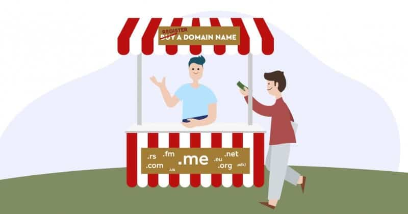 Registering a Domain, Not Buying it