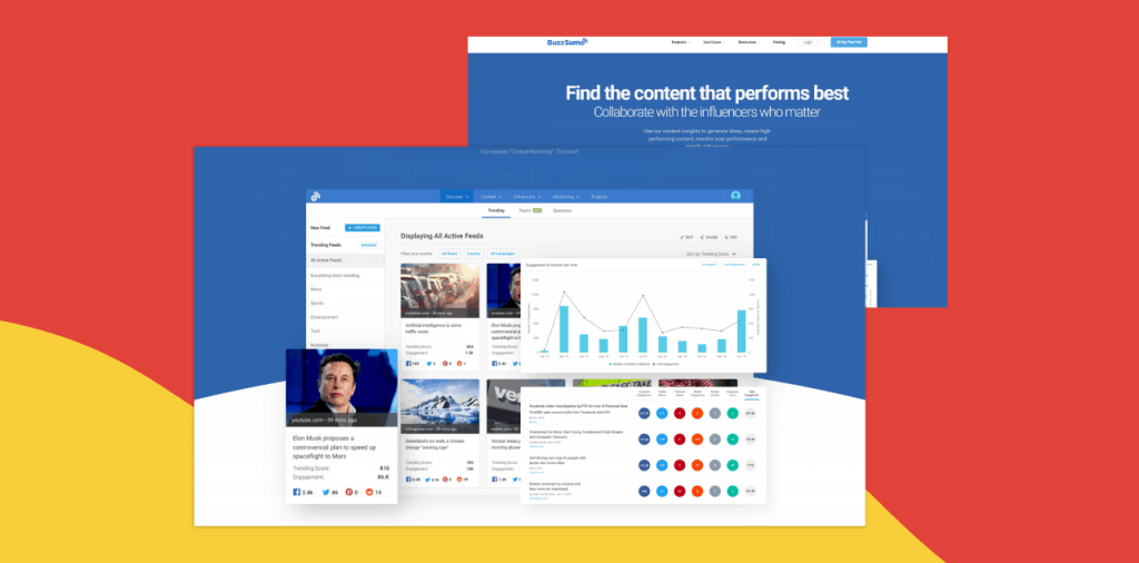 buzzsumo content curation tool