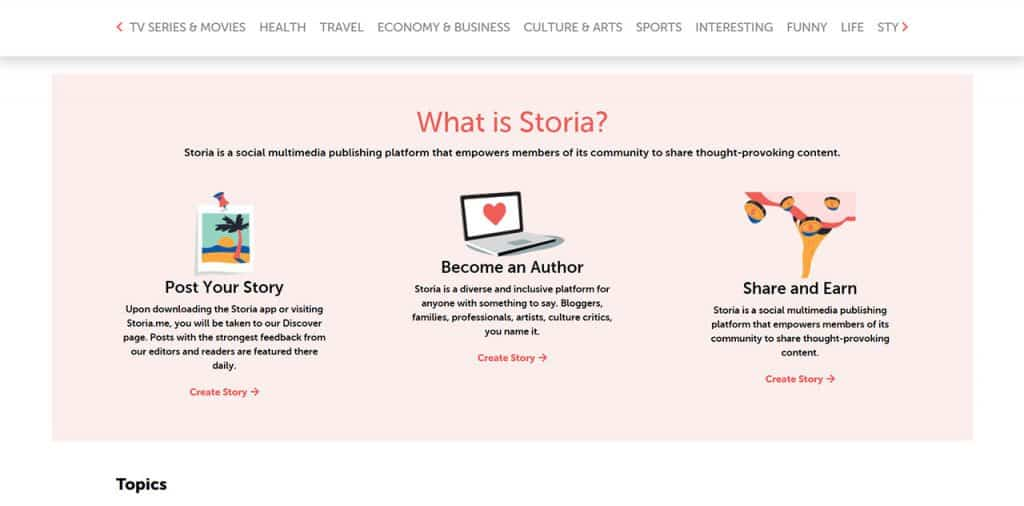 Discover Stories Worth Telling At Storia ME • Domain  ME blog