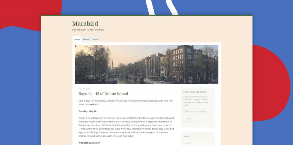 marabird blog kids blogging