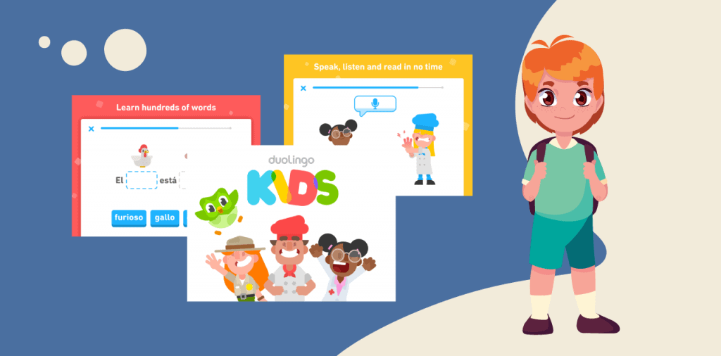 kids learning a new language with dualingo