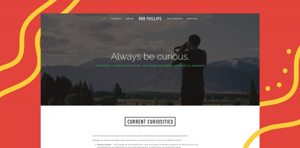 personal website online presence