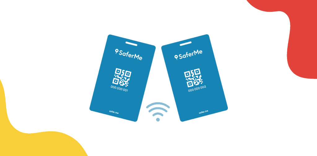 SaferMe Blutooth wearable card for contact tracing