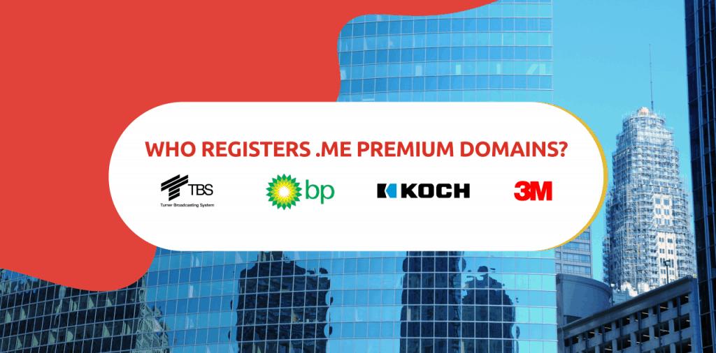 Who registers .ME premium domains