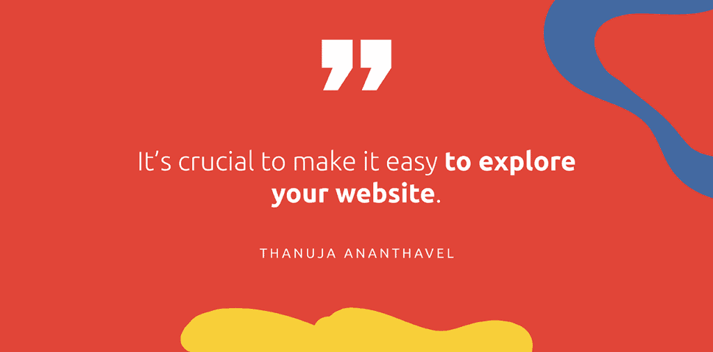 """A junior marketer's perspective on personal websites: """"It's crucial to make it easy to explore your website."""" - Thanuja Ananthavel"""